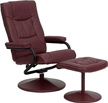 Flash Furniture Contemporary Burgundy Leather Recliner