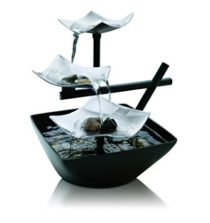 HoMedics Envirascape Silver Springs Illuminated Relaxation Fountain with Natural Stones, Stress Reliever, Natural Sound, Great For Office, Living Room, Vacation House, WFL-SLVS